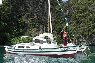 Thailand mit dem Segelboot vor Anker