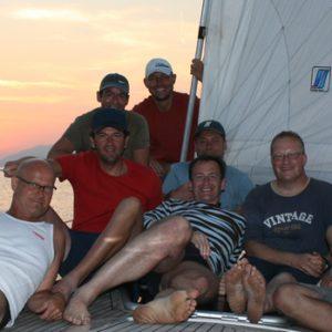 Crew in Elba