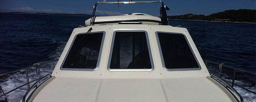 Motorboot in Kroatien